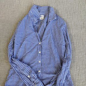 JCrew Perfect Button-Up in Blue Gingham